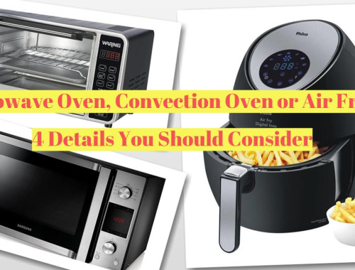 Microwave Oven, Convection Oven or Air Fryer: 4 Details You Should Consider